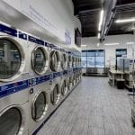 laundromat with big machines and fast