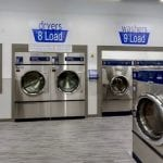 washers and dryers inside waterloo laundromat clean laundry