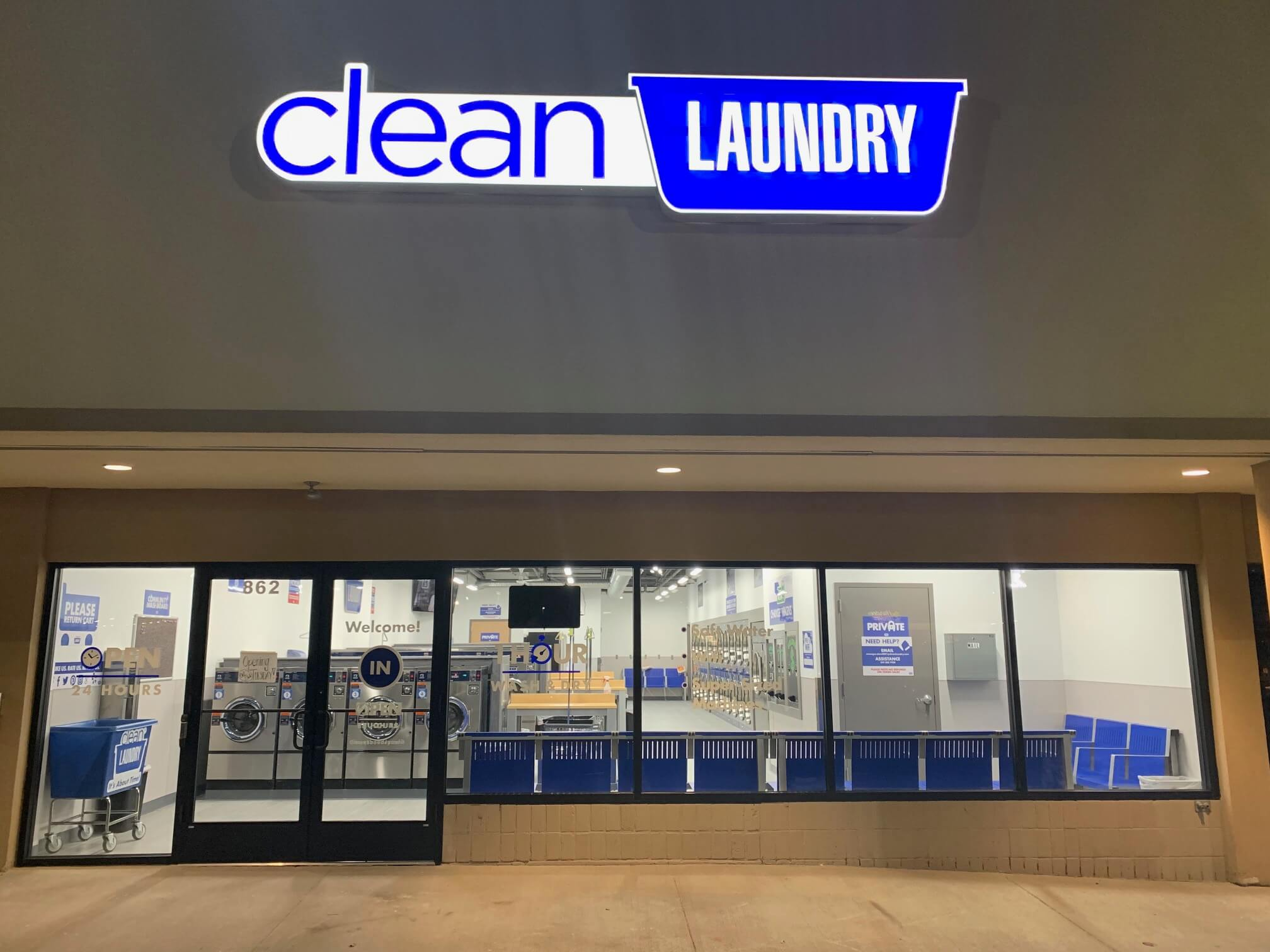 Liberty Clean Laundry Store Front Location