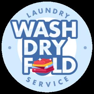 Lavado de ropa limpia Logotipo de pliegue en seco