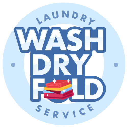 Clean Laundry Wash Dry Fold Logo