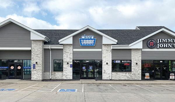 Clean Laundry laundromat storefront on Kirkwood Blvd in Cedar Rapids, IA