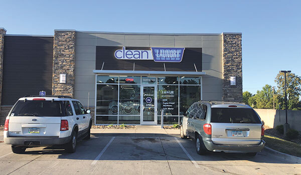 Clean Laundry storefront on Euclid Rd in Des Moines