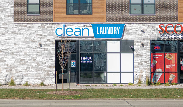 Clean Laundry laundromat storefront photo on 1st Ave in Cedar Rapids