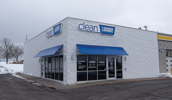 Clean Laundry laundromat storefront on Edgewood Rd in Cedar Rapids, IA