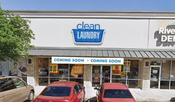 Clean Laundry laundromat storefront on Norwood Park Blvd in Austin, TX