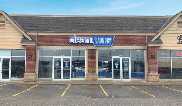 Clean Laundry laundromat storefront in West Milwaukee on Miller Park Way