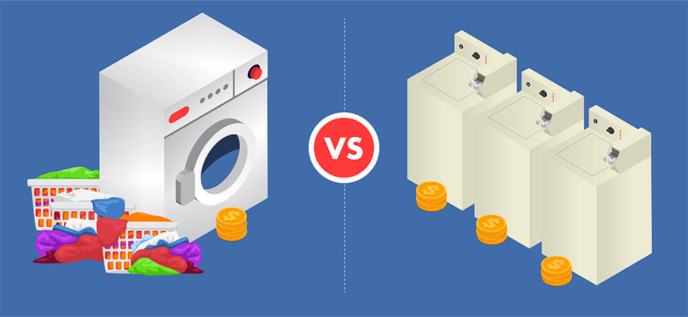 Top-loader washer vs front-load washer at Clean Laundry