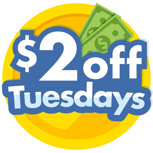 $2 off Tuesday